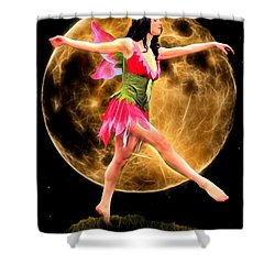 Moonlight Stroll Of A Fairy Shower Curtain