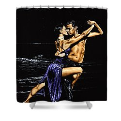 Moonlight Tango Shower Curtain by Richard Young