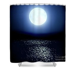 Shower Curtain featuring the photograph Moonlight by Tatsuya Atarashi