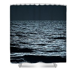Moonlight Waves Shower Curtain by Nancy Landry