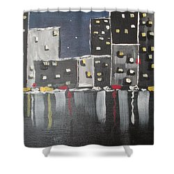 Moonlighters Shower Curtain by Sharyn Winters
