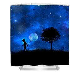 Moonlight Shadow Shower Curtain