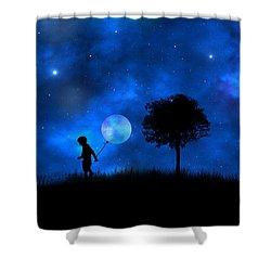 Shower Curtain featuring the digital art Moonlight Shadow by Bernd Hau