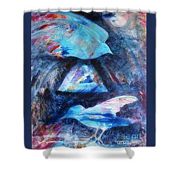 Moonlit Birds Shower Curtain