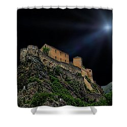 Moonlit Castle Shower Curtain