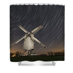 Moonlit Chillenden Windmill Shower Curtain