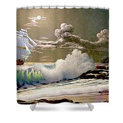 Moonlit Clipper Shower Curtain