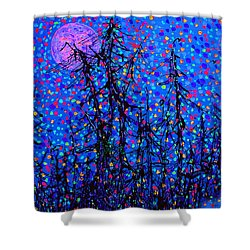 Moonlit Forest Shower Curtain