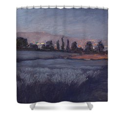 Moonlit Lavender Fields Shower Curtain by Jane Thorpe