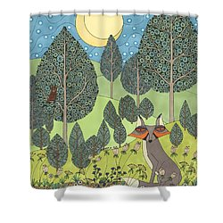 Moonlit Meadow Shower Curtain
