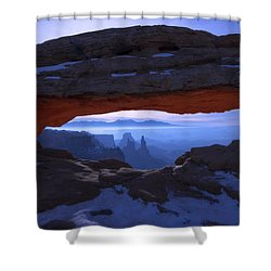 Moonlit Mesa Shower Curtain