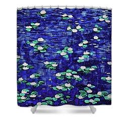 Moonlit Nymphaea Shower Curtain