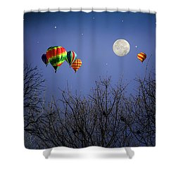 Moonlit Ride Shower Curtain