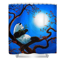 Moonlit Snack Shower Curtain