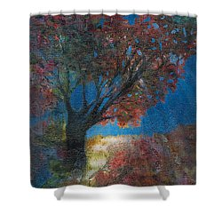 Moonlit Tree Shower Curtain