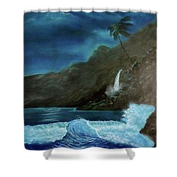 Moonlit Wave Shower Curtain
