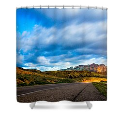Moonlit Zion Shower Curtain