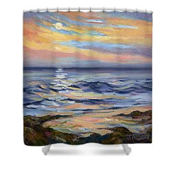 Moonrise At Cabrillo Beach Shower Curtain
