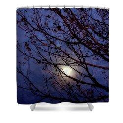 Shower Curtain featuring the photograph Moonrise by Ellen Heaverlo