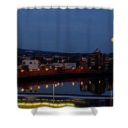 Moonrise In Belfast Shower Curtain