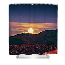 Moonrise In Northern New Mexico  Shower Curtain