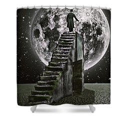 Moonrise Shower Curtain by Mihaela Pater