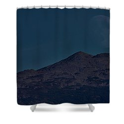 Moonrise Mount Adams Shower Curtain