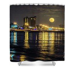 Moonrise Over Biloxi Shower Curtain