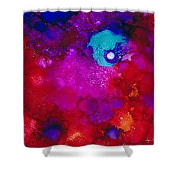Moonrise Over Mars Shower Curtain by Angela Treat Lyon