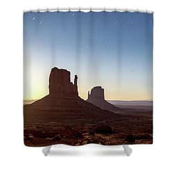 Moonrise Over Monument Valley Shower Curtain