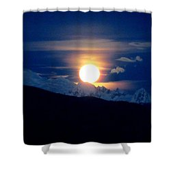 New Year's Super Moon Shower Curtain