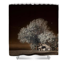 Moonrise Over The Bottoms, October Shower Curtain by William Fields