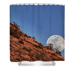 Moonrise Shower Curtain by Rick Furmanek
