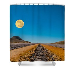 Moonrise Wyoming Shower Curtain by Don Spenner