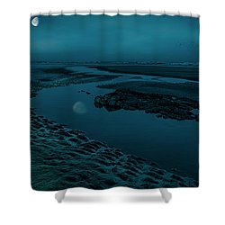 Moonscape 4 Shower Curtain