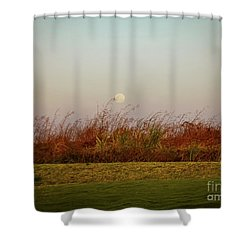 Moonscape Evening Shades Shower Curtain
