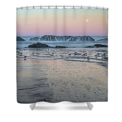 Moonset At Seal Rock Shower Curtain