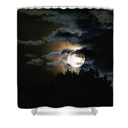Moonset In The Clouds 2 Shower Curtain