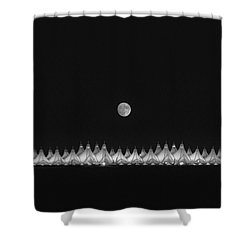 Moonset Over Dia Shower Curtain