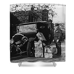 Moonshine Car Chase Shower Curtain
