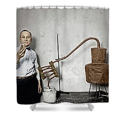 Shower Curtain featuring the photograph Moonshine Distillery by Granger