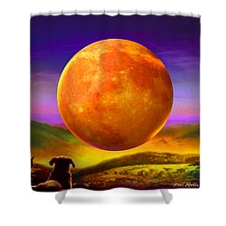 Shower Curtain featuring the painting Moonshine Forever by Robin Moline