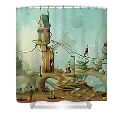 Moonshine Manor The Finest Distillery West Of The Sun Shower Curtain