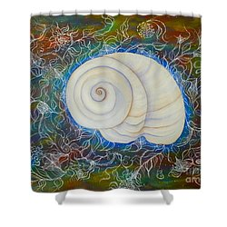 Moonsnail Lace Shower Curtain