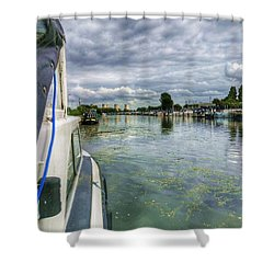 Moored At The Marina Shower Curtain