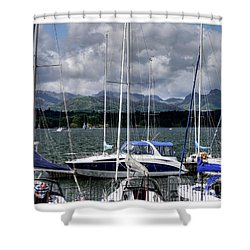 Moored In Beauty Shower Curtain