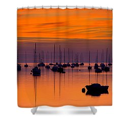 Moorings, Conwy Estuary Shower Curtain