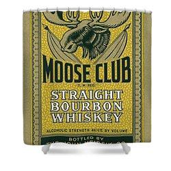 Shower Curtain featuring the photograph Moose Club Bourbon Label by Tom Mc Nemar