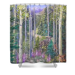 Moose Encounter Shower Curtain
