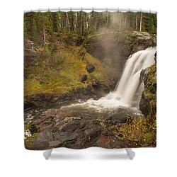 Shower Curtain featuring the photograph Moose Falls by Gary Lengyel